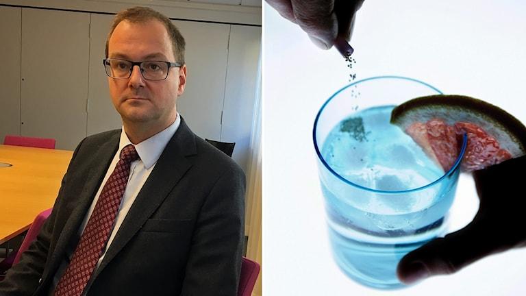 Till vänster Daniel Haraldsson, till höger en drink