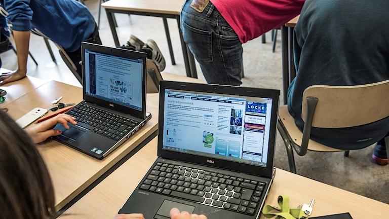 Datorer i skolan.
