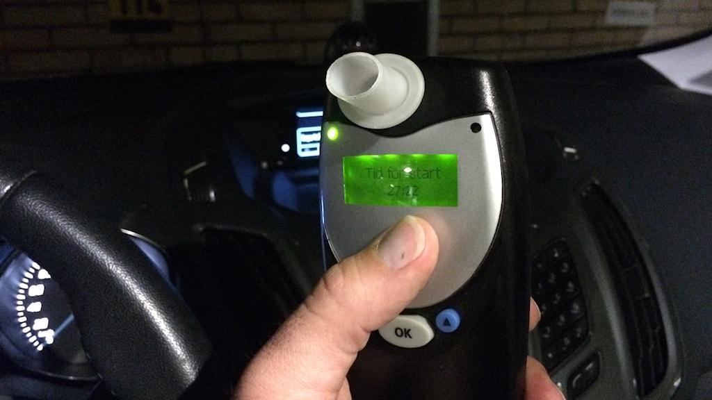 Ett alkolås i en bil