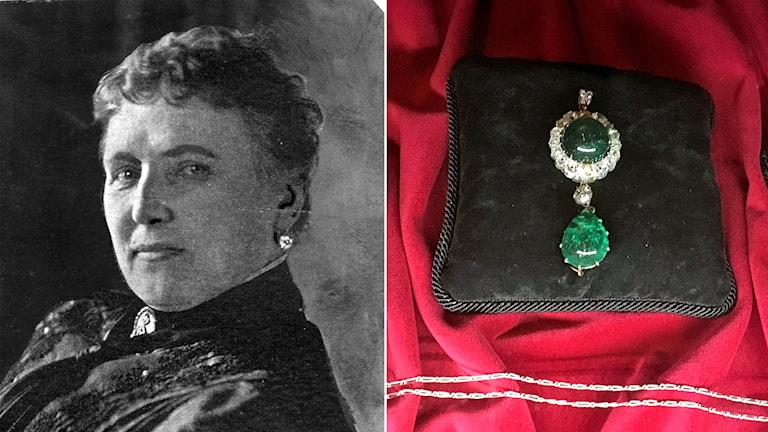 Christina Nilsson och hennes smycke
