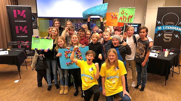 Östra Lugnets skola 5A vann den första kvartsfinalen av Vi i femman Kronoberg.