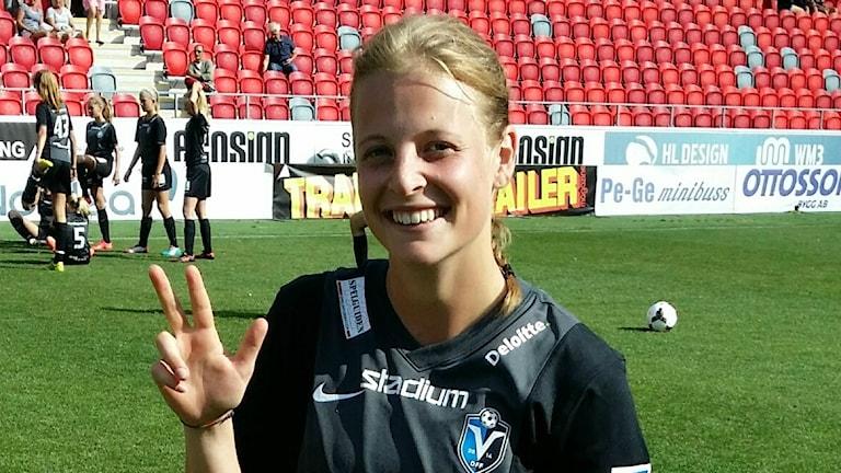 Växjö DFF:s Anna Anvegård.