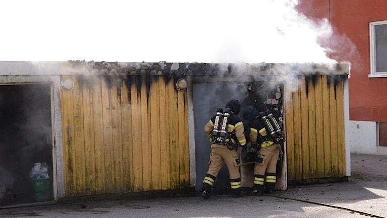 Brand i miljöhus