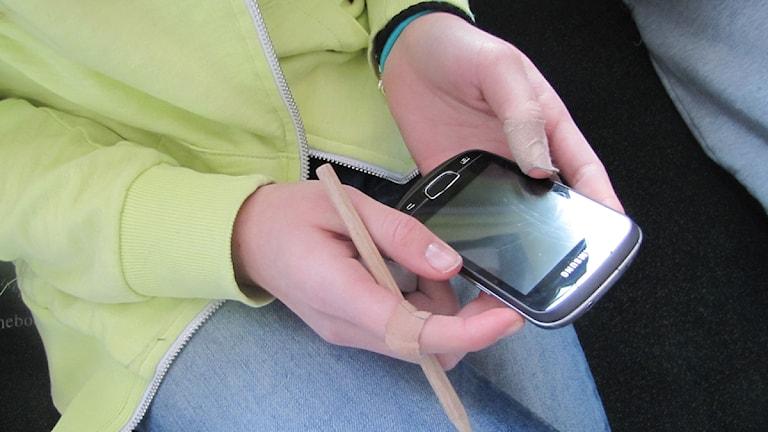 Kommunens försök med sms mot skolk har gett visst resultat. Foto: Ines Micanovic/ Sveriges Radio