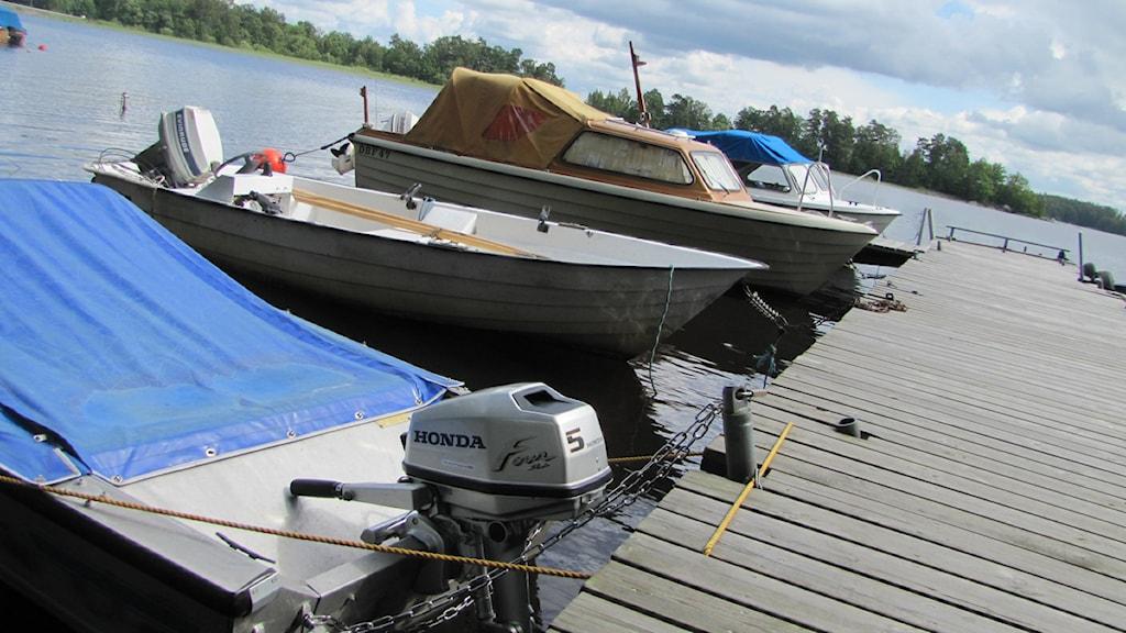 Båtar. Foto: Martina Svensson/Sveriges Radio