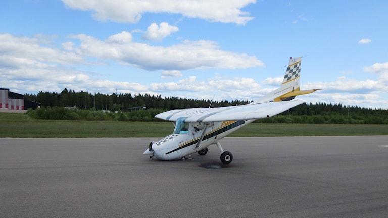 havererad Cessna på Växjö flygplats