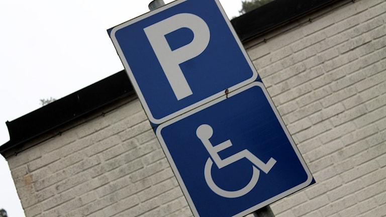 Parkering för handikappade. Foto: Sandra Douglasdotter/Sveriges Radio