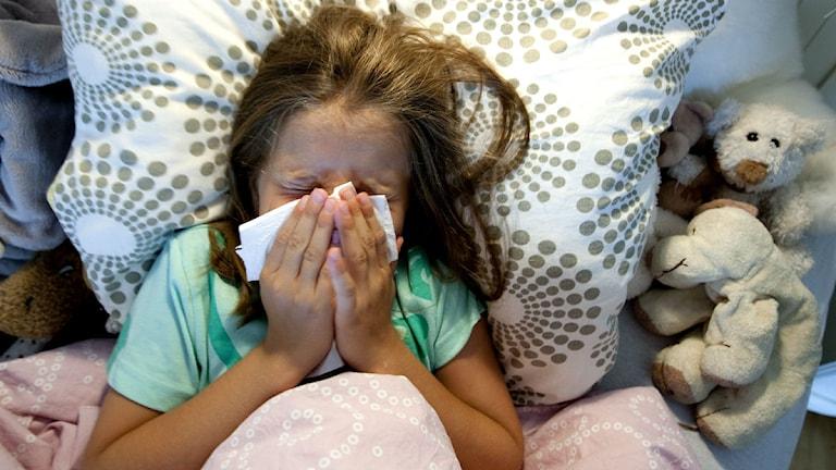 Sjukt barn.