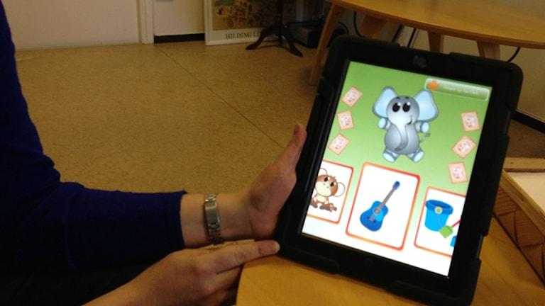 Läsplattor ska användas som pedagogiska verktyg på förskolor. Foto: Magnus Sundvall/P4 Kronoberg.