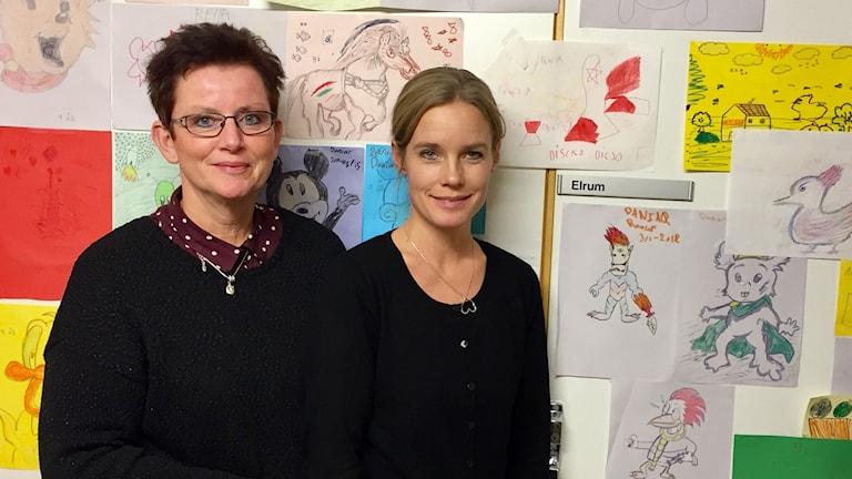 Allergikonsulenten Birgitta Lagerkrants och dietisten Elin Magnusson.