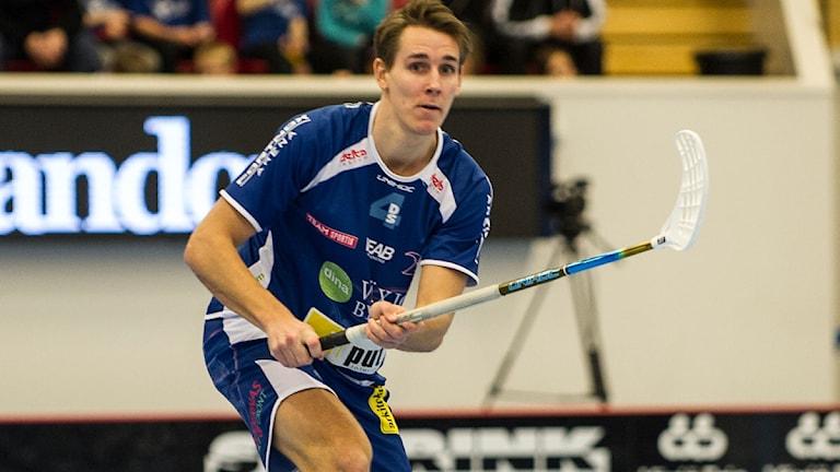 Innebandyspelaren Johan Roos i Växjö IBK. Foto: Växjö IBK