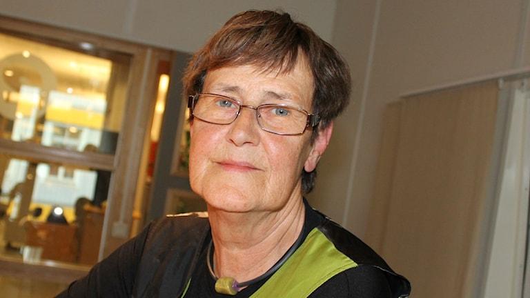 Fd eu-parlamentarikern Eva-Britt Svensson, Växjö. Foto: Anne Marchal/ Sveriges Radio