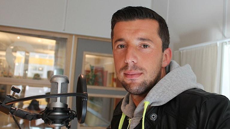 Denis Velic i Östers IF. Foto: Anne Marchal/ Sveriges Radio