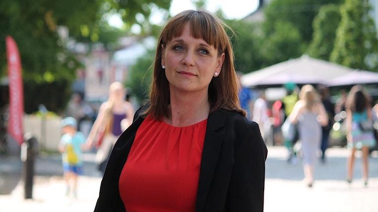 Karin Jisborg Hultgren, ordförande i Vårdförbundet Kronoberg. Foto: Emma Kvennberg/Sveriges Radio