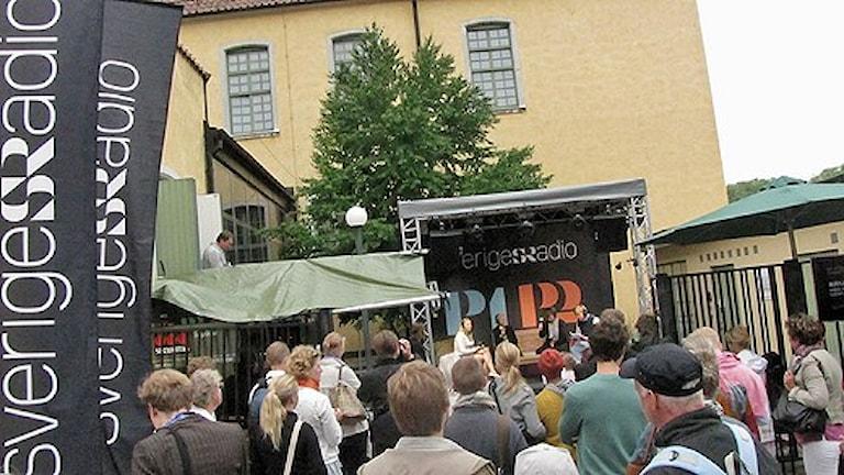 SR i Almedalen. Foto: Sveriges Radio