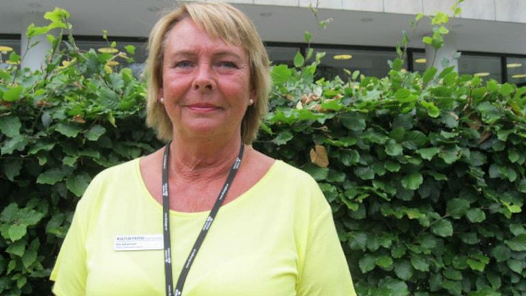 Eva Johansson (C). Foto: Billy Abraha/Sveriges Radio