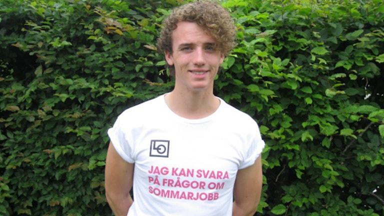 Ola Palmgren är länets kampanjledare för LO. Foto: Dick Kardell/Sveriges Radio