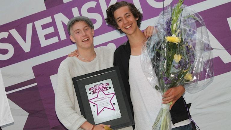Stolta vinnare! Foto: Emma Kvennberg/Sveriges Radio