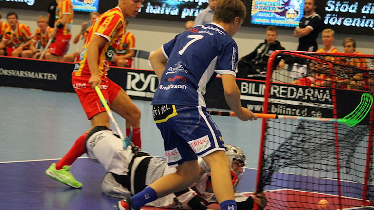 Växjö gjorde det historiska första målet i Superligan. Foto: Anna Tigerström/Sveriges Radio