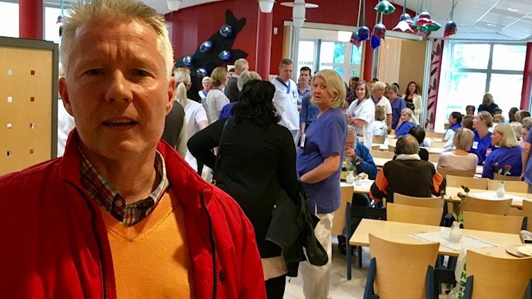 Ola Johannesson på mötet om förslaget i Ljungby.