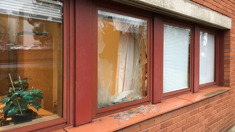 polishuset i Ljungby som utsattes för misstänkt sabotage i natt