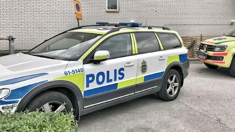 Polisinsats efter misshandel.