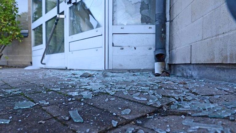Polisstationen på Dalbo i Växjö utsatt för skadegörelse