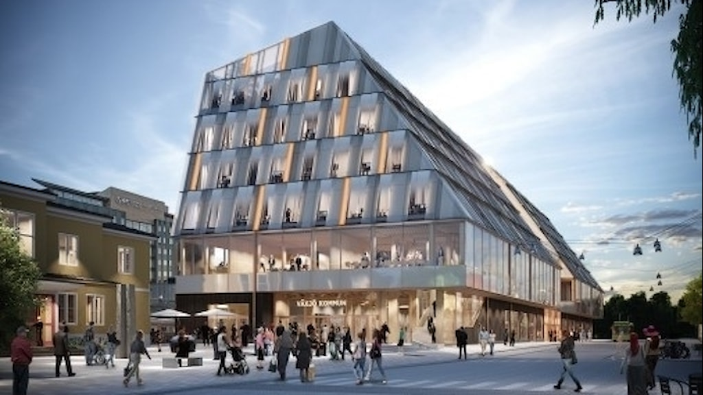 Växjös nya stations- och kommunhus.