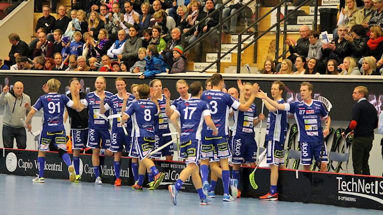 Innebandylaget Växjö Vipers i Fortnox arena. Arkivfoto: Anna Tigerström/Sveriges Radio