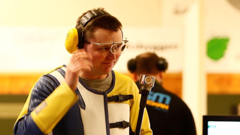 Skytten Emil Martinsson från Delary. Foto: Svenska skyttesportförbundet