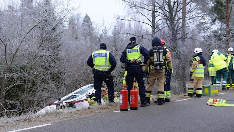 Olycka på länsväg 702
