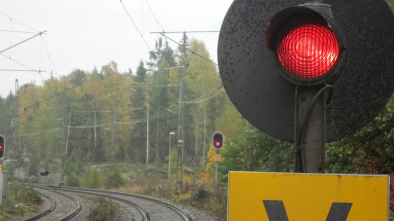 Tågstopp. Foto: Hasse Altbark/Sveriges Radio