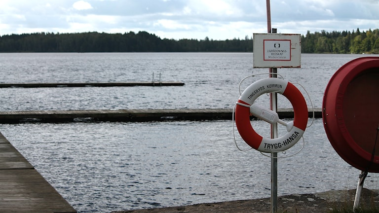 Badplats, Mårdslycke, Tingsryd, Tingsryds camping, livbåt, livboj, brygga
