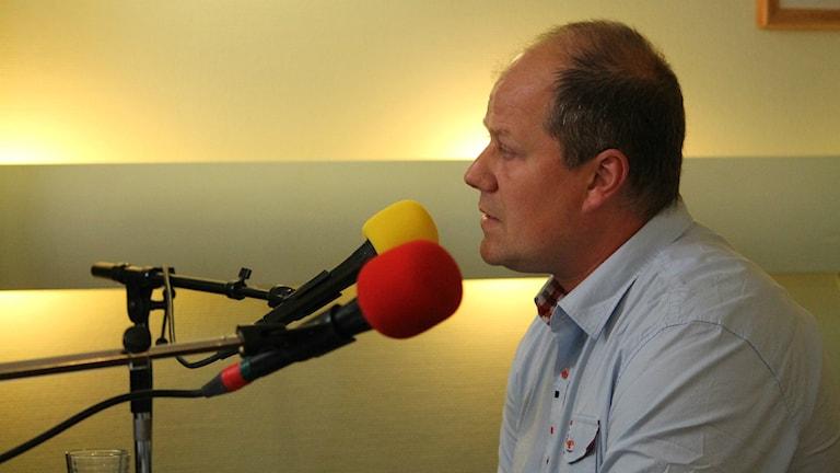 Benny Lundh Johansson (SD) på plats i Alvesta.