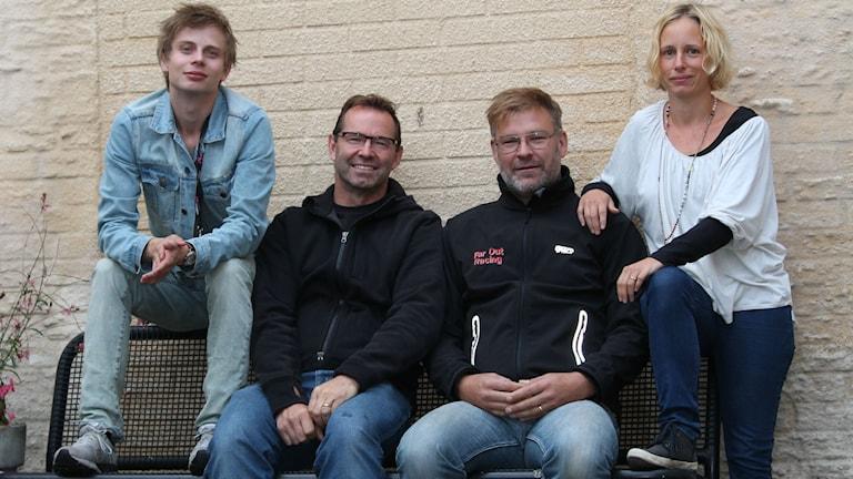 Sporten P4 Kronoberg - Jonatan Bergman, Mike Zanier, Peter Sundh och Anna Tigerström Foto: Emma Kvennberg/Sveriges Radio