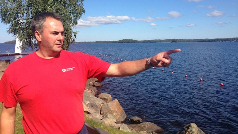 Nils Inngul på sjöräddningssällskapet. Foto: Jonatan Bergman/Sveriges Radio.