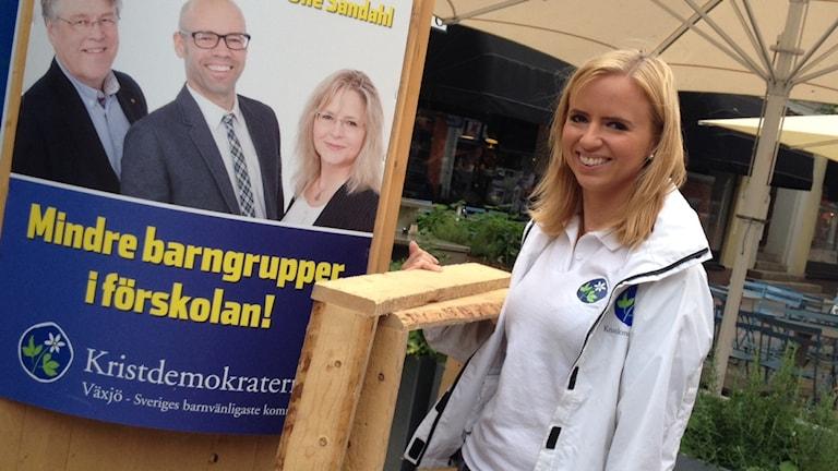 KDU:s ordförande Sara Skyttedal kandiderade till riksdagen för Kronoberg. Foto: Sveriges Radio