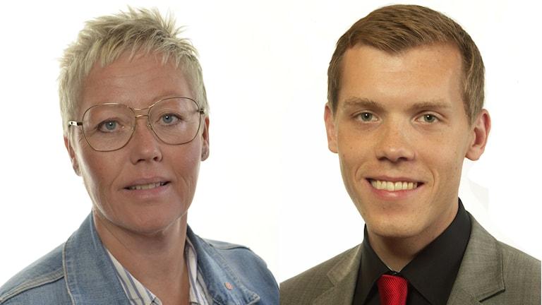 Haider (S) och Hultberg M) debatterade budgeten. Foto: Riksdagen