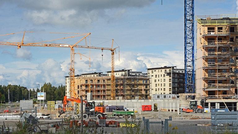 bostadsbyggande, bostäder, byggplats, byggarbetsplats, studentbostäder, Teleborg, Växjö