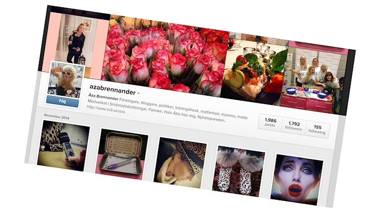 Åza Brennander använder sig av sociala medier för att stärka sitt varumärke