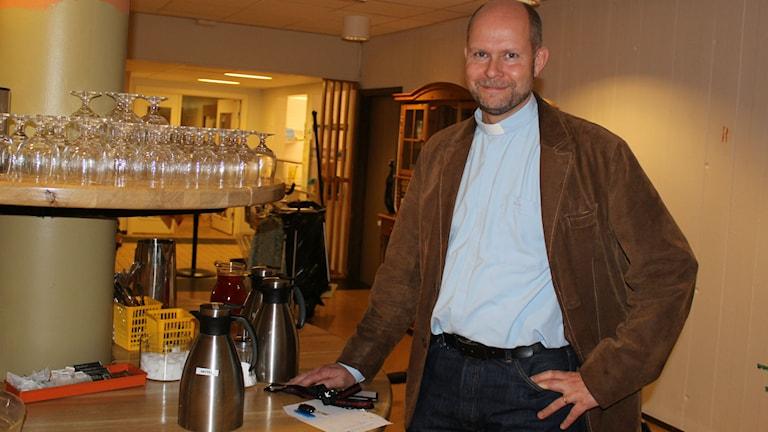 Lars Björksell, chef på Växjö Diakonicentrum. Foto: Karin Ernstsson/Sveriges Radio