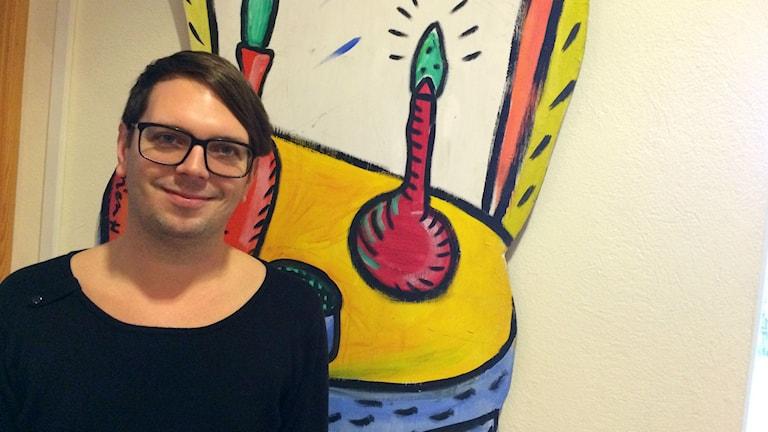 Andreas Dahl är intiativtagare till gayklubben. Foto: Marcus Sjöholm/Sveriges Radio