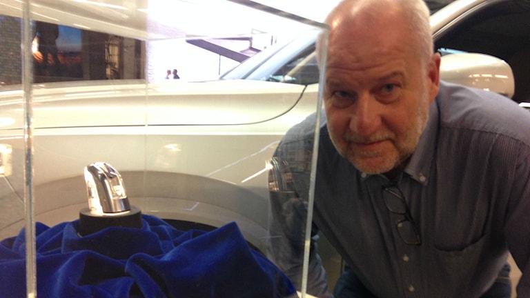 Kenneth Koch, chef för Glasproduktion AB/ Foto: Peje Johansson/ Sveriges Radio