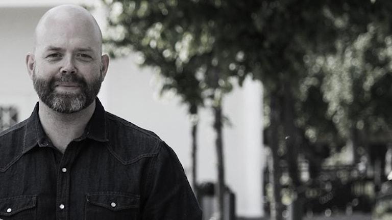 Jocke Wallgren programleder Förmiddag i P4. Foto: Emma Kvennberg/Sveriges Radio