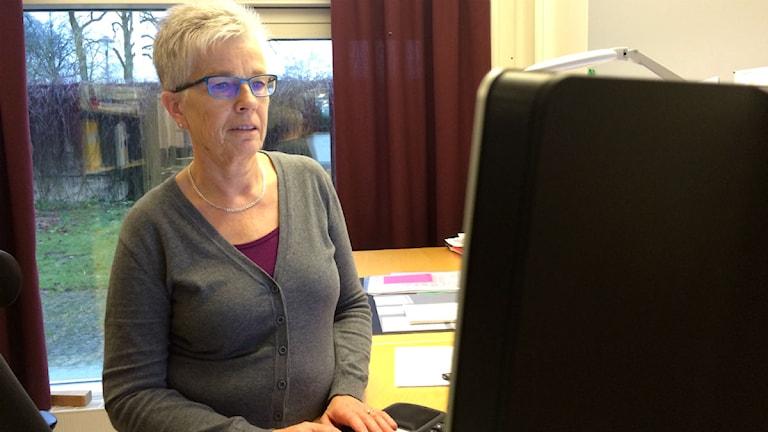 Ann-Mari Åhlander, miljöinspektör i Ljungby. Foto: Lars-Peter Hielle/Sveriges Radio