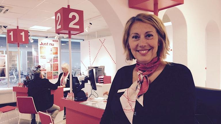 Fatima Bihorac, reseförsäljare Foto: Petra Ekelöf