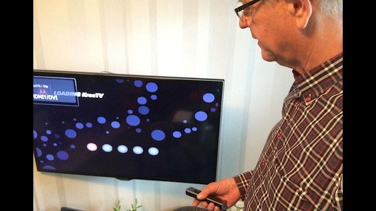 Den rödrosa blobben till vänster visar att uppkopplingen inte funkar, visa Jan-Eric Johansson som menar att företaget är dåligt på att informera.