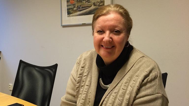 Gisela Andersson, integrationsdirektör vid länsstyrelsen i Kronoberg. Foto: Lena Pettersson/ Sveriges Radio