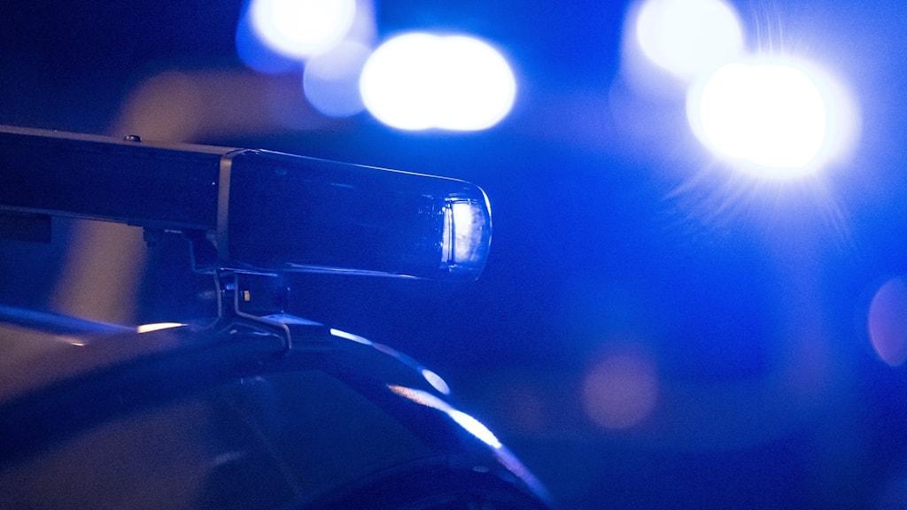 blåljus från polisbil