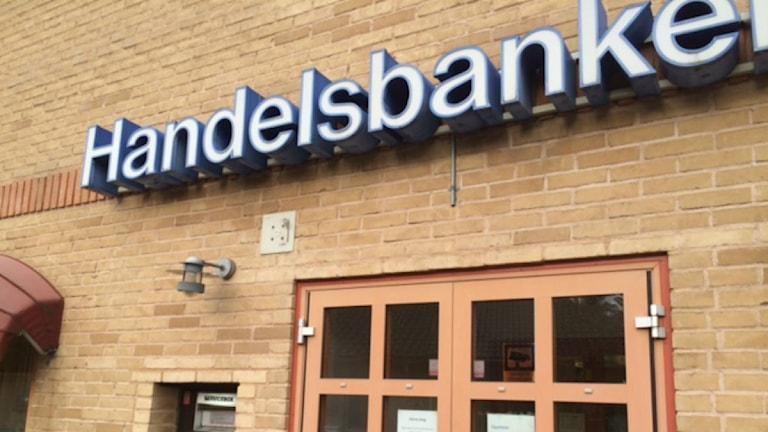 Handelsbankens kontor i Lammhult. Foto: Karin Ernstsson/Sveriges Radio